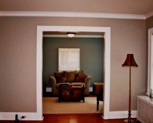 Pintura de interiores de casa