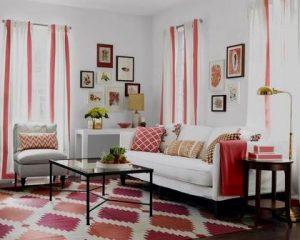 Reformas de interior de salón colorido