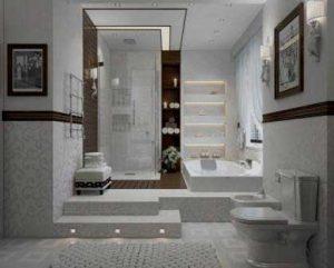 Decoración de cuartos de baño en tonos blanco
