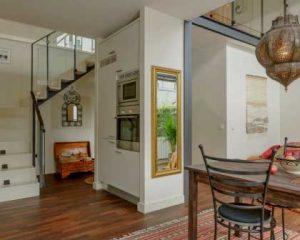 Diseño de interiores piso de madera
