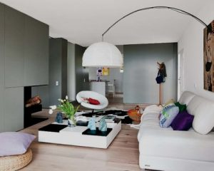 Interiores de chalets piso de madera