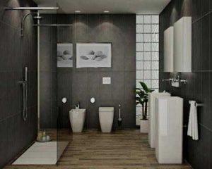 Sustitución de bañera por plato de ducha baño moderno
