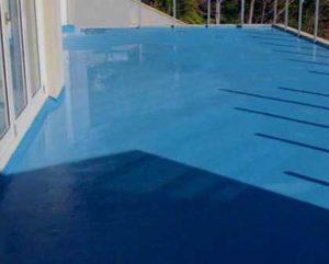 Filtracione en terraza con solucion líquida