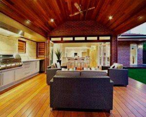 Carpintería techo y piso