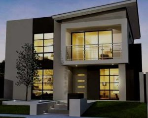 Construcción de vivienda moderna